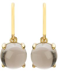 Mishanto London - Loris Smoky Quartz Claw Set Earrings - Gold Plated - Lyst