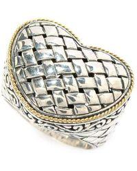 Samuel B. - Heart Shaped Woven Design Ring In Sterling Silver - Lyst