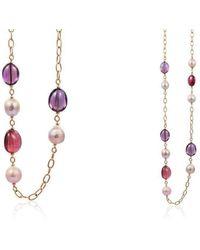 Goshwara - Beyond Amethyst, Rubelite & Pearl Necklaces - Lyst