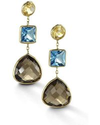 BCOUTURE - Large Multi Colour Drop Earrings - Lyst