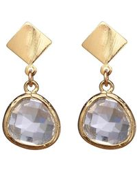 Verve Jewelry - Madrid - Clear Glass Earrings - Lyst