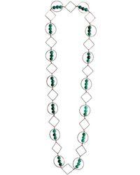 M's Gems by Mamta Valrani - Harmony Geometric Necklace With Green Quartz - Lyst