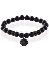 MARCOS DE ANDRADE - Shield Onyx Bracelet With Titanium Black - Lyst