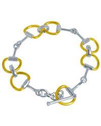 Pegasus Jewellery - Gold Snaffle Bracelet - Lyst