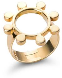 SOLUNA 18kt Yellow Gold Sun Crown Ring - Metallic