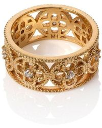 Mara Hotung 18kt Yellow Gold Vermeil Faith Ring - Metallic