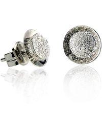Xavier Civera - White Gold Round Diamond Earrings - Lyst