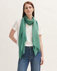 Jigsaw Wool Silk Pashmina - Green