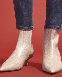 Jigsaw Sandra Ankle Boot Leather - Multicolour