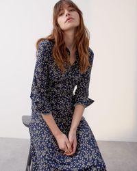 Jigsaw Primrose Midi Shirt Dress - Blue