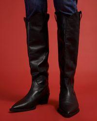 Jigsaw Marlo Western Boot Leather - Black