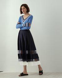 Jigsaw - A - Pleated Tier Skirt - Lyst