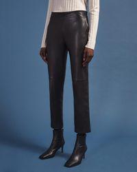 Jigsaw Leather Bardot Trousers - Black