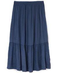 Jigsaw Satin Midi Skirt - Blue