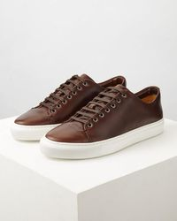 Jigsaw - Campbell Leather Trainer - Lyst