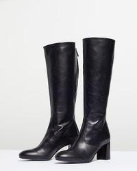 Jigsaw Madsen Knee High Boot - Black