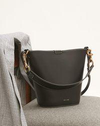 Jigsaw Veg Leather Kenton Bucket Bag - Black