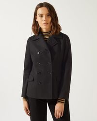 Jigsaw - Double Breasted Peacoat - Lyst