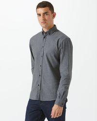 Jigsaw - Italian Melange Flannel Shirt - Lyst