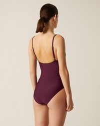 Jigsaw Ruched Swimsuit - Purple
