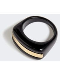 Jigsaw Graphic Resin Ring - Black