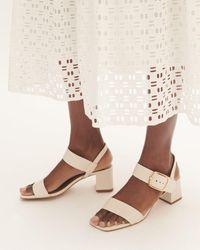 Jigsaw Maer Leather Heeled Sandal - Multicolour
