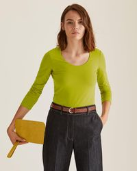 Jigsaw Thin Croc-effect Leather Belt - Brown