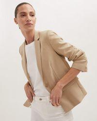 Jigsaw Portofino Linen Jacket - Natural