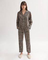 Jigsaw Tide Print Pyjama Cotton Modal - Multicolour