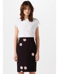 Jigsaw - Oversized Spot Pencil Skirt - Lyst