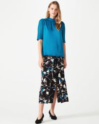 Jigsaw - Floral Thistle Pleat Front - Lyst