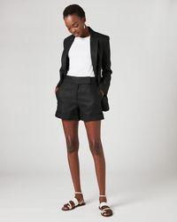 Jigsaw Casual Linen Blazer - Black