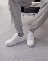 Jigsaw Riva Leather Platform Trainer - White