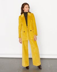 Jigsaw Cord Jacket - Yellow