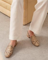 Jigsaw Snake Effect Leather Loafer - Multicolour