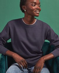 Jigsaw Cotton Boyfriend Sweatshirt - Multicolour