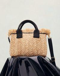 Jigsaw Holme Straw Mini Bag - Natural