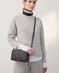 Jigsaw Quilted Stripe Sweatshirt - Blue
