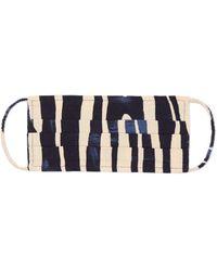 Jigsaw Linear Print Face Mask - Blue