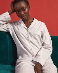 Jigsaw Cotton Checked Pyjamas - Grey