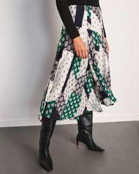 Jigsaw Paisley Patchwork Midi Skirt - Multicolour