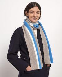 Jigsaw Wool University Scarf - Blue