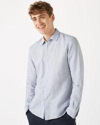 Jigsaw - Italian Linen Cotton Long Sleeve Shirt - Lyst