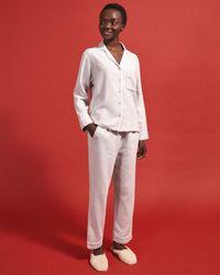 Jigsaw Cotton Herringbone Pyjamas - Grey