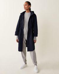 Jigsaw Lightweight Hooded Parka - Blue