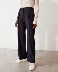 Jigsaw Helena Pleat Front Trouser - Blue
