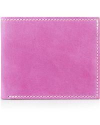 Jigsaw Contrast Stitch Bill Fold Wallet - Pink