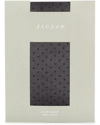 Jigsaw 20 Denier Spot Tights - Black