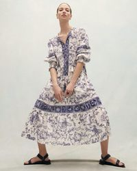 Jigsaw Toile De Jouy Maxi Dress - Multicolour
