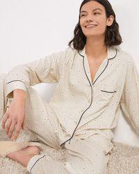 Jigsaw Geo Herringbone Pyjamas - Natural